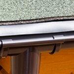Traufstreifen zwischen dem Dachrand und der Dachrinne.